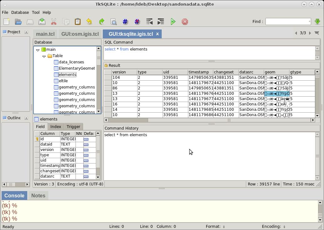 IGIS UI SQLite Manager